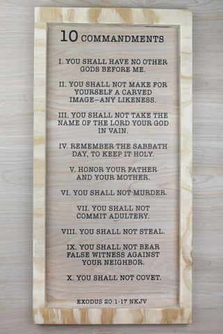 10 Commandments Wood Decor