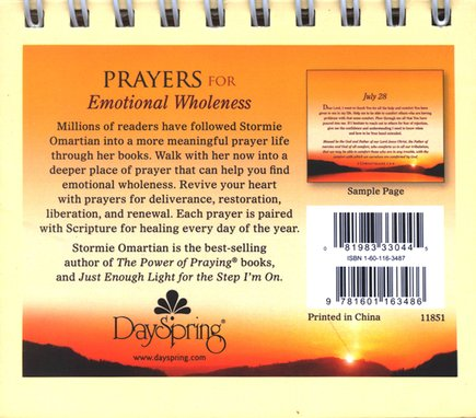 Prayers For Emotional Wholeness Daybrightener