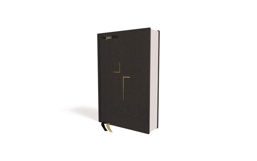 Personalized The Jesus Bible ESV Edition Cloth Over Board Gray