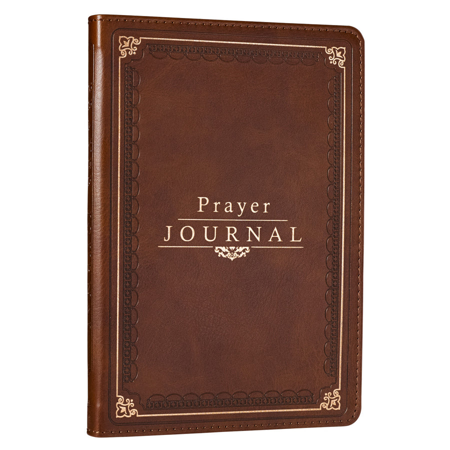 Personalized Journal Custom Text The Lord's Prayer Matthew 6:9-13 LuxLeather Prayer Journal Brown