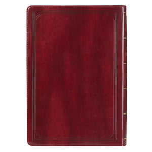 Personalized KJV Bible Super Giant Print King Indexed LuxLeather Burgundy
