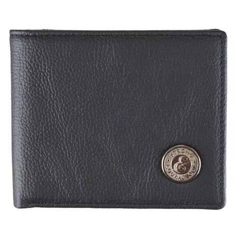 Strong & Courageous Metal Medallion Wallet