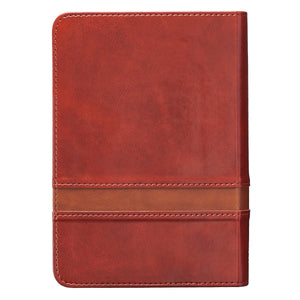 Personalized KJV SMALL COMPACT Large Print LuxLeather Brown