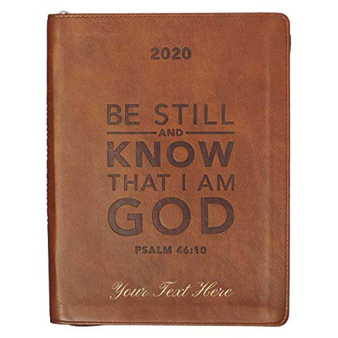 Personalized 2020 Planner Psalm 46:10 Zippered