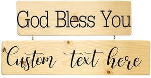 Personalized God Bless You Wood Decor