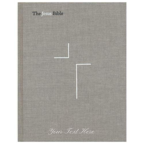 Personalized NIV The Jesus Bible Hardcover Grey Linen