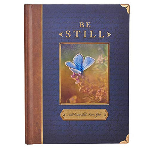 """Be Still"" Antique Look Hardcover Journal w/ Metal Corners"