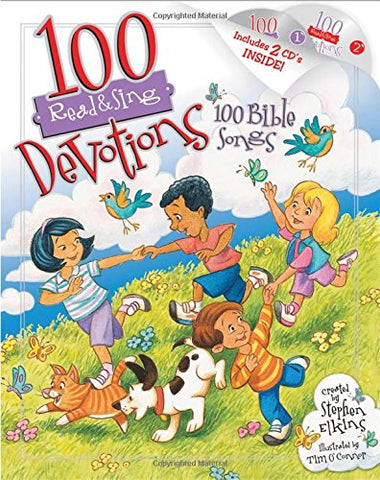 100 Devotions, 100 Bible Songs (Read & Sing)