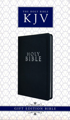 Personalized Custom Text Your Name KJV Gift and Award Bible Lux Leather Black King James Version