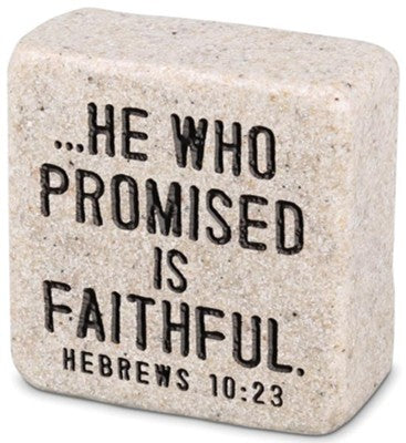 Hebrews 10:23 Scripture Stone