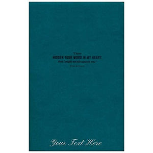 Personalized NLT Hidden in My Heart Scripture Memory Bible Soft Imitation Leather Teal