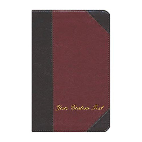 Personalized Custom Text ESV Large Print Personal Size Bible Brown/Cordovan English Standard Version