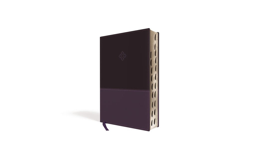 Personalized Bible with Custom Text The Amplified Study Bible Leathersoft Thumb Indexed Purple