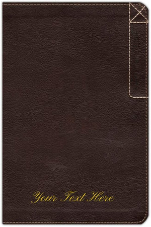 Personalized NLT Every Man's Bible Deluxe Explorer Edition LeatherLike Brown