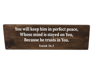 Isaiah 26:3 God Will Keep You In Perfect Peace Wood Decor