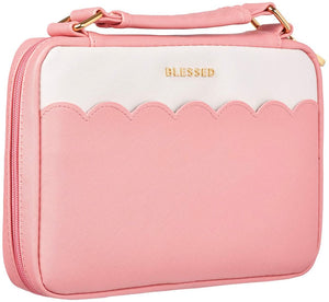 Blessed Pink Scalloped Bible Cover - Large
