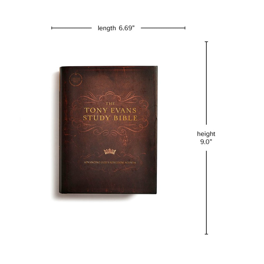 Personalized Custom Text CSB Tony Evans Study Bible Hardcover Dark Brown Christian Standard Bible