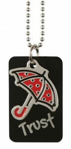 "Christian Black Umbrella Trust Dog Tag Necklace - ""I am Under God's Protection"""