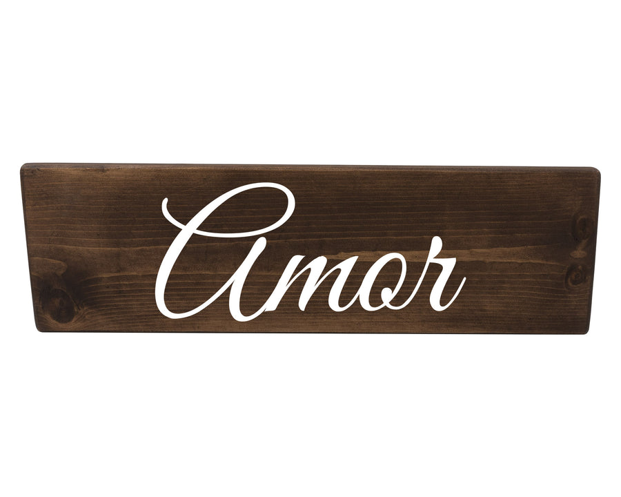 Amor Spanish Wood Decor