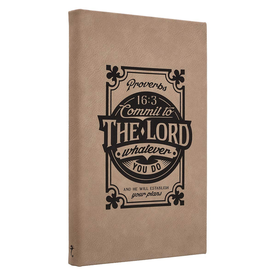 Commit to the Lord - Proverbs 16:3 Laser Engraved Journal [Hardcover]