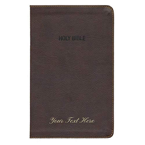 Personalized NIV Foundation Study Bible Leathersoft Brown Red Letter Edition