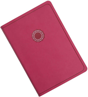 Personalized NKJV Deluxe Gift Bible Pink/Light Pink LeatherTouch Comfort Print