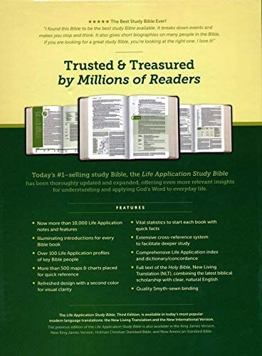 Personalized NLT Life Application Study Bible Third Edition Blue