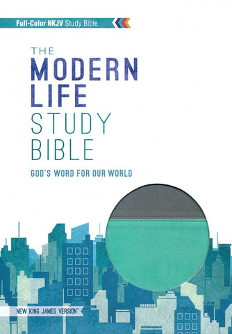 The Modern Life Study Bible LS Turquoise/Gray