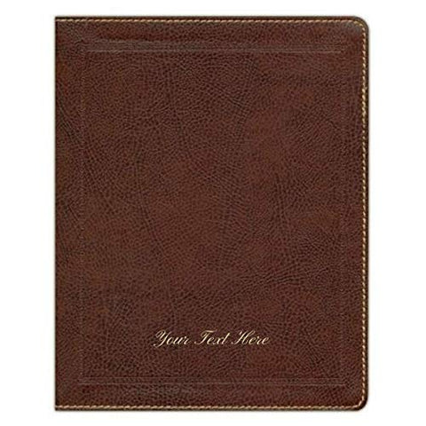 Personalized KJV Journal The Word Bonded Leather Brown