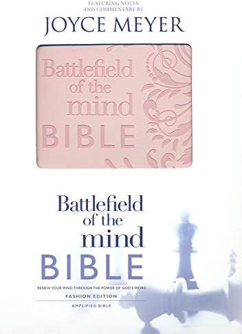 Personalized Battlefield of The Mind Bible: Renew Your Mind Through The Power of God's Word Pink