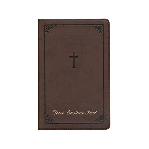 Personalized Custom Text NIV TeenStudy Bible COMPACT Leathersoft Chocolate New International Version