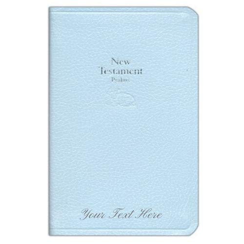 Personalized KJV Baby's New Testament Blue Imitation Leather