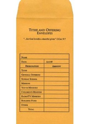 Tithe And Offering Envelope - 100pk