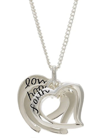 Cross Gifts Faith, Hope, Love Three-Heart Necklace