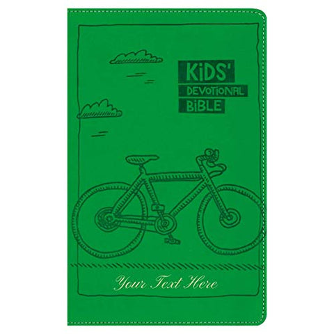 Personalized NIrV Kids Devotional Bible Italian Duo-Tone Green