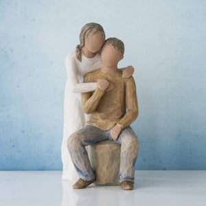 Willow Tree You and Me (Darker Skin Tone & Hair Color), Sculpted Hand-Painted Figure