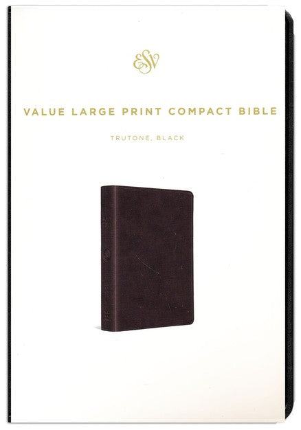 Personalized ESV Large Print Compact Bible Trutone Black