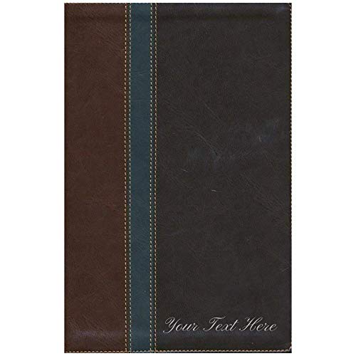 Personalized NLT Study Bible TuTone LeatherLike Slate
