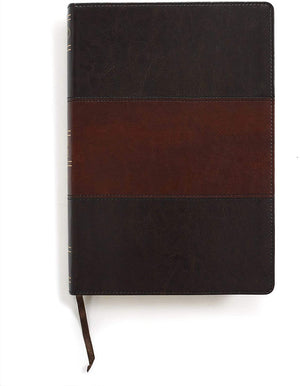 Personalized NKJV Giant Print Reference Bible Saddle Brown LeatherTouch Indexed