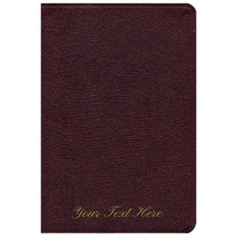 Personalized NIV Life Application Study Bible Personal Size Bonded Leather Burgundy