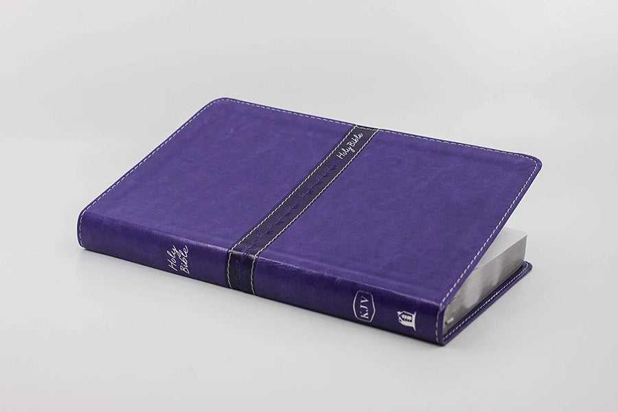 Personalized KJV Thinline Leathersoft Purple Comfort Print Holy Bible