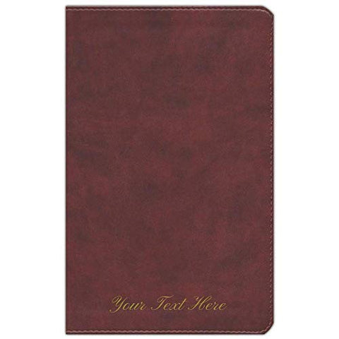 Personalized ESV Large Print Personal Size Bible Soft Leather-Look Chestnut