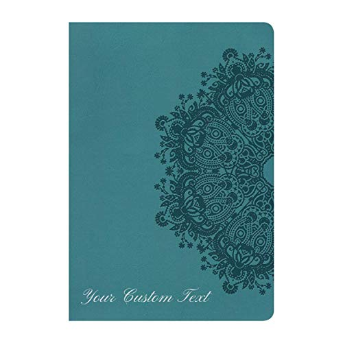 Personalized NKJV Holy Bible Ultrathin Reference Teal LeatherTouch New King James Version