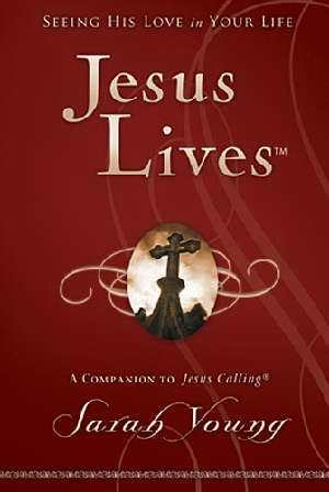 Jesus Lives Devotional Dark Red