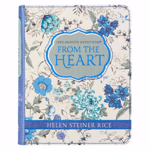 One Minute Devotions From The Heart Helen Steiner Rice Blue