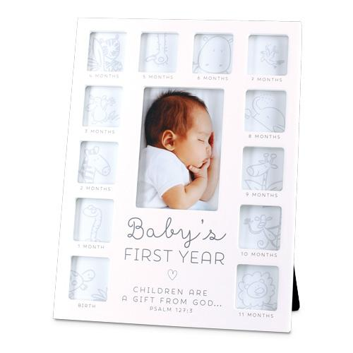 Baby's First Year White 13 Frame Collage White