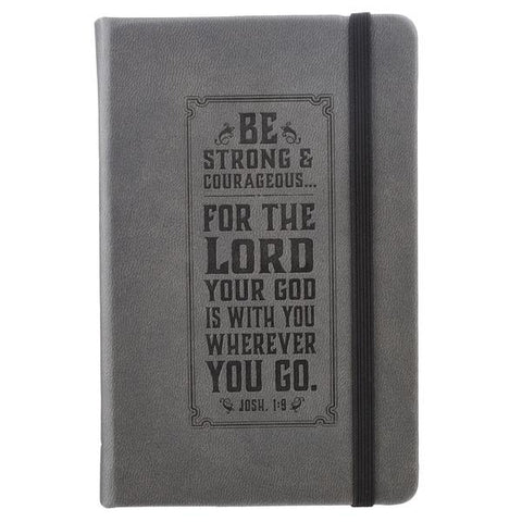 Be Strong FauxLeather Notebook Featuring Josh 1:9
