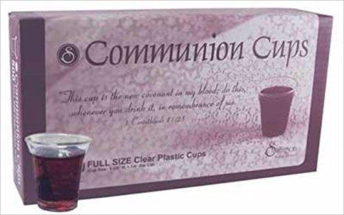 Communion Cups - 200 Full Size Clear Plastic Cups
