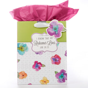 Medium Gift Bag: I Know that My Redeemer Lives - Job 19:25