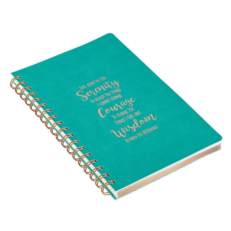 Teal Serenity Prayer Notebook